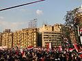 Demonstrators Holding Flag of Egypt.jpg