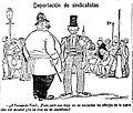 Deportación de sindicalistas, de Tovar, La Voz, 31 de agosto de 1921.jpg