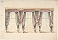 Design for Gray and Pink Curtains with Pink Fringes and a PInk and Gold Pediment MET DP807347.jpg