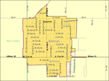 detailed street map of Hugoton, Kansas