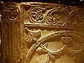 Detall d'un cancell visigòtic de la cripta arqueològica de la presó de Sant Vicent Màrtir, València.JPG