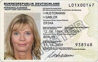 German identity card