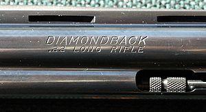 Colt Diamondback - .22 caliber Colt Diamondback rollmark