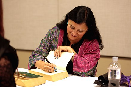 Gabaldon signing books at the 2017 Phoenix Comicon Diana Gabaldon by Gage Skidmore 2.jpg