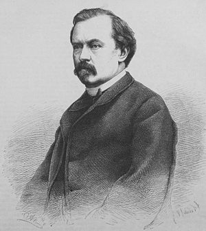 Alfred Meissner - Portrait engraving of Meissner by Adolf Neumann, published in Die Gartenlaube, 1867
