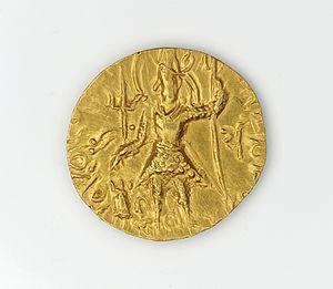 Kanishka III - Dinar of Kanishka III or Vashishka.