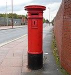 Disused post box on Banks Road, Garston.jpg