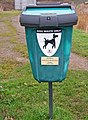 Dog waste bin below lock 4 on the Droitwich Barge Canal - geograph.org.uk - 1091550.jpg