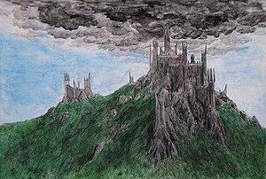English: Dol Guldur, fortress of the Dark Lord...