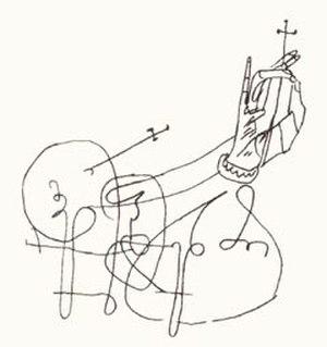 Domentius IV of Georgia - Signature of Domentius IV.