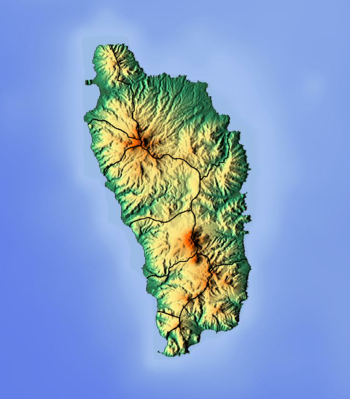 Location map Dominica