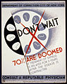 Don't wait - 70% are doomed if treatment of syphilis is delayed for 3 years after the disease is contracted LCCN91725481.jpg