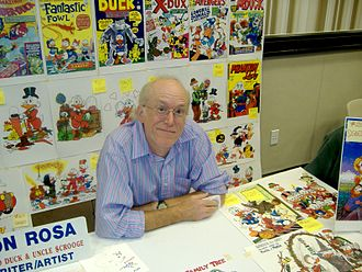 Dragon Con - Artist Don Rosa at the artist area of Dragon Con in 2009