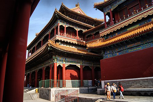 Yonghe Lama Temple of Tibetan Buddhism. Dongcheng, Beijing, China - panoramio (84).jpg