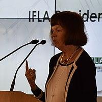 Donna Scheeder IFLA President's Meeting 2017 (cropped).jpg
