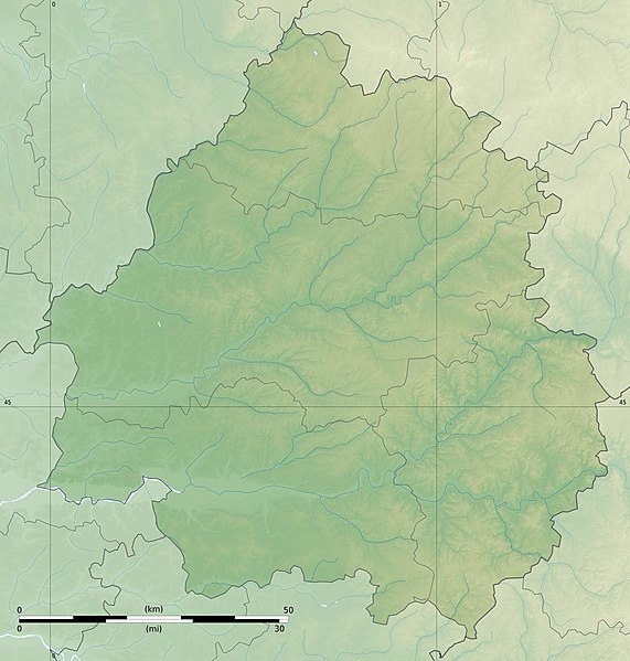 Fichier:Dordogne department relief location map.jpg