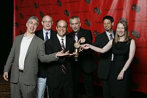 Peter Sagal - Doug Berman, Carl Kasell, Peter Sagal, Rod Abid,  Phillip Goedicke, and Emily Ecton at the 67th Annual Peabody Awards Luncheon Waldorf Astoria Hotel New York, NY USA, 16 June 2008
