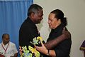 Dr Jimmie Rodgers congratulates the new Secretary General of the Pacific Islands Forum 2014.jpg