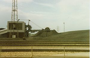 Drax power station - The rotary coal loader feeding the plant from the stockyard.