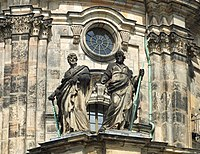 Dresden Hofkirche apostles Bartholomew and James.JPG