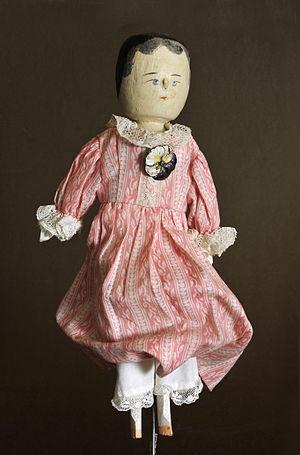 Peg wooden doll - Image: Dressed dutch doll Gröden