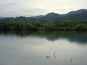 Drina River Zvornik Reservoir.JPG
