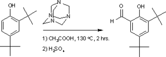 Duff reaction - Duff reaction 3,5-di-tert-butylsalicylaldehyde