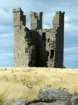 History of Northumberland - Dunstanburgh Castle (built c. 1320) was garrisoned by the Lancastrians in 1462