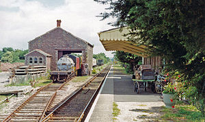 Dunster railway station - Looking towards Blue Anchor in 1991