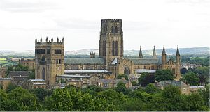 Durham Cathedral - Image: Durham Cathedral from the south 2