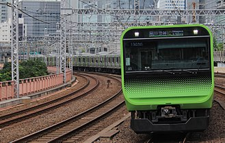 Yamanote Line - A Yamanote Line E235 series EMU in July 2017