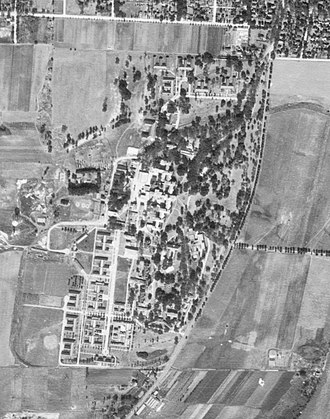 Elgin Mental Health Center - Aerial photo of the main 207-acre campus taken on September 28, 1939