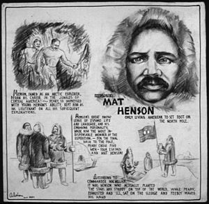 Matthew Henson - Poster from U.S. Office of War Information. News Bureau,1943