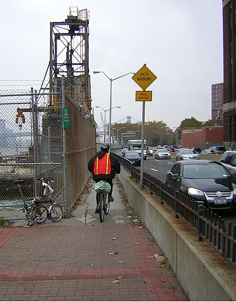 File:East River Greenway 15th St narrow bit jeh.jpg