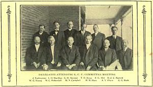 Seventh-day Adventist Church in Canada - A. V. Olson, President, Quebec Conference, 1915, Front Row, Second from the Right