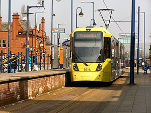 Eccles Interchange - The Metrolink element of Eccles Interchange, in 2010