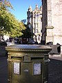 Edinburgh - golden postbox, Hunter Square - geograph.org.uk - 3148153.jpg