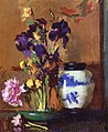 Edmund Tarbell - Still Life with Irises and Blue Jar (14775902569).jpg