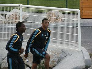 Édouard Cissé - Édouard Cissé (right) with Guy Gnabouyou.