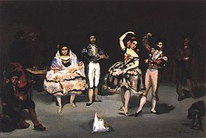 Kinetic art - Édouard Manet, Le Ballet Espagnol (1862).