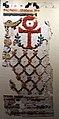 Egitto, epoca romana o bizantina, frammento di drappo da appendere a tema cristiano, lino e lana.JPG