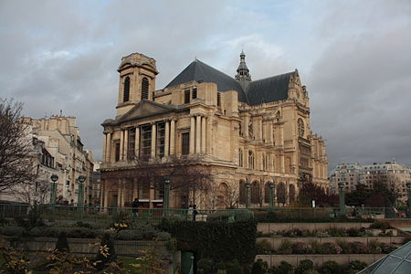 The Unfinished West Facade Of The Church Of Saint Eustache Paris With Its Single Bell Tower 1754 78