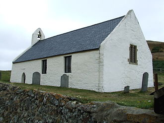 Religion in Wales - Eglwys-y-Grog, a 13th-century church in Mwnt, Ceredigion