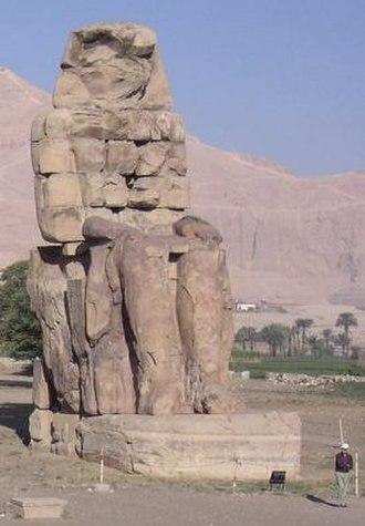 14th century BC - The northern Colossus of Memnon
