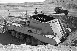 Egyptian archer tank destroyer knocked out by Israeli tanks at Abu Ageila - 1956.jpg