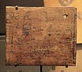 Egyptian wood plate with inscriptions Thinite period 2900-2700 BCE Louvre Museum.jpg