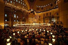 Молитва Ид аль-Фитр, мечеть Сулеймание, Стамбул - 30 августа 2011 г.