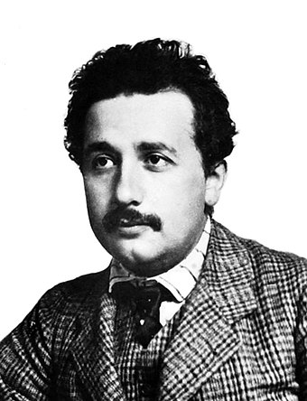 Albert Einstein in 1904 (age 25) Einstein patentoffice.jpg