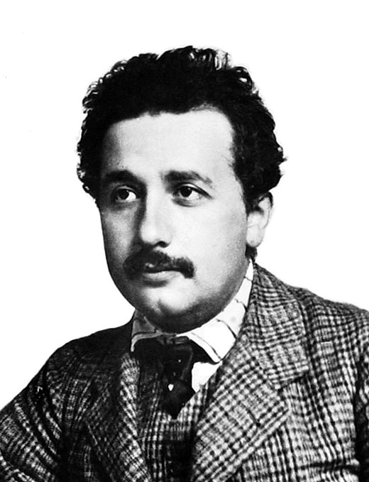 "Albert Einstein around 1905, the year his ""Annus Mirabilis papers"" were published. These included Zur Elektrodynamik bewegter Korper, the paper founding special relativity. Einstein patentoffice.jpg"