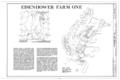 Eisenhower Farm One, Emmitsburg Road (U.S. 15), Eisenhower National Historic Site, Gettysburg, Adams County, PA HABS PA,1-GET.V,12- (sheet 1 of 1).png